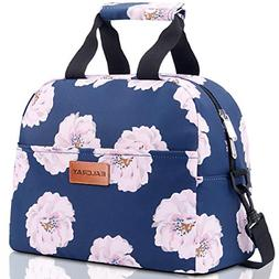 BALORAY Lunch Bags for Women with Shoulder Strap Insulated L