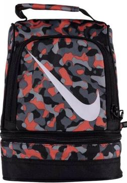 Nike Lunch Box Bag Boys Girls 2 Compartments Insulated Dome