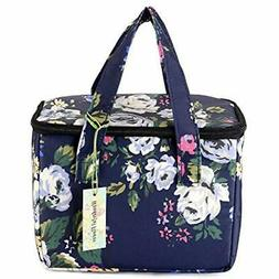 Lunch Box Cooler Bag Bags Lunch Bag Flower  Kitchen &amp Din