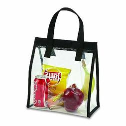 Clear Lunch Tote Bag with Velcro Closure