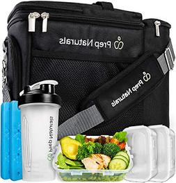 Meal Prep Insulated Lunch Bag for Men Meal Prep Cooler with