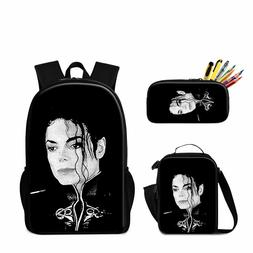 Michael Jackson Backpack Cool Satchel Insulated Lunch Box Bo