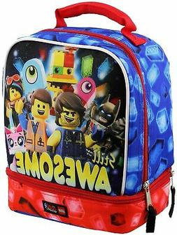 Lego Movie 2 Still Awesome Lunch Bag - Insulated Dual Compar