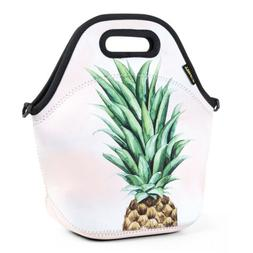 Neoprene Adult Lunch Bags for Women large Insulated Pineappl