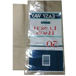New 821174  Easy Way Paper Lunch Bags 12 3-8 50Ct  Disposabl