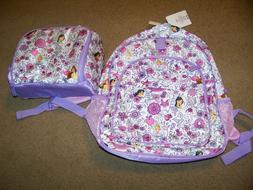 New Disney Princesses Backpack Book Bag & Lunch Bag Mulan Ci