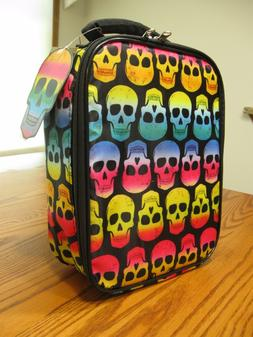New Accessory Innovations Rainbow Skull Insulated Lunch Tote