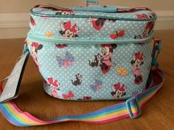 NWT Minnie Mouse Disney Soft Insulated Lunch Bag Adjustable