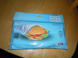 PACK OF 2 INSULATED SANDWICH BAGS LUNCHES SNACKS REUSABLE NI