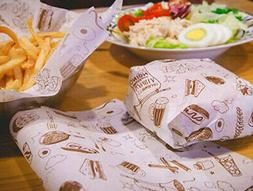 Paper Sandwich Bag Disposable Lunch Food Toast Hamburger Sto