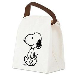 CafePress Peanuts Snoopy Canvas Lunch Bag with Strap Handle