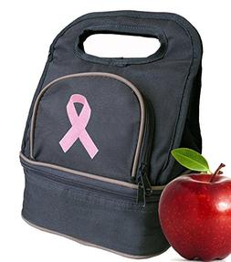 Pink Ribbon Lunch Bag Lunchbox UNIQUE BREAST CANCER SUPPORT
