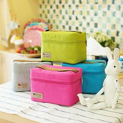 Portable Insulated Thermal Cooler Bento Lunch Box Tote Picni