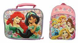 Disney Princess Backpack With Lunch Bag Rapunzel Ariel Cinde