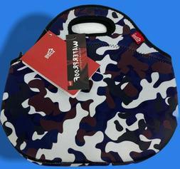 Purple Camo Neoprene Lunch Bag Tote Waterproof Insulated The