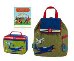 Stephen Joseph Quilted Backpack, Lunch Box, and Coloring Boo