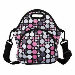 Reusable Lunch Bags Printed Dense Triangle Detachable Strap