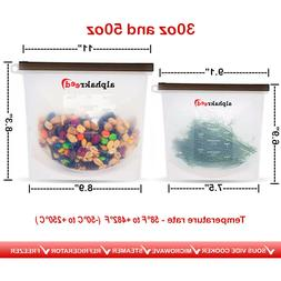 Food Storage Bags, Reusable Silicone Containers for Lunch Ve
