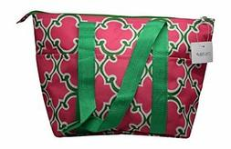 Large Reusable Zippered Top Insulated Lunch Bag