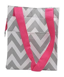 Reusable Zippered Top Insulated Lunch Bag