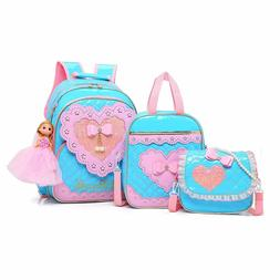 Rolling Backpack for Girls with Pencil Case&Lunch School Tro