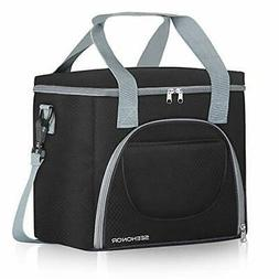 SEEHONOR Insulated Lunch Bag Leakproof Thermal Reusable Lunc