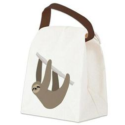 CafePress Sloth Canvas Lunch Bag with Strap Handle
