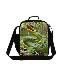 Dispalang Snake Printed Small Lunch Box Bag for Children Sch