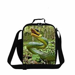 snake printed small lunch box bag