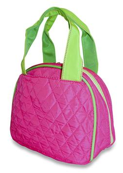 Solid Quilted Lunch Bag