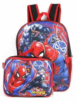 Marvel SpiderMan Boys Bookbag Backpack Bag Lunch Box School