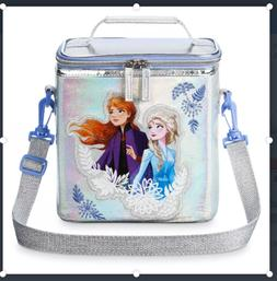 Disney Store Frozen 2 Anna Elsa Insulated Zip Lunch Bag Tote