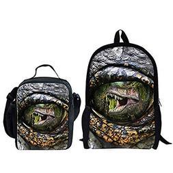 INSTANTARTS T-rex Bookbag Backpack School Small Lunch Dinosa