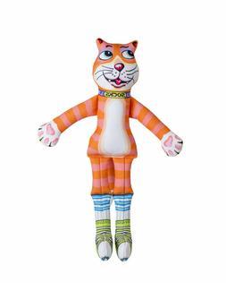 Fuzzu That Sneaky Cat Socks Squeaker Medium or Large Dog Toy