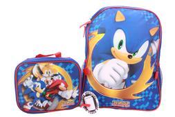 "Sonic The Hedgehog Boys School Backpack Book Bag 16"" Toy Gif"