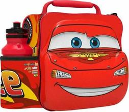 Kids CARS Thermal Insulated Lunch Bag  Sport Bottle 3D Disne