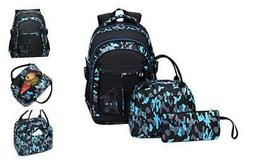 Tonlen School Backpack and Lunch Bag Set for Boys Heavy Duty