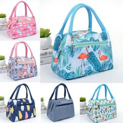 Small Insulated Lunch Bag Cooler Picnic Travel Food Box Wome