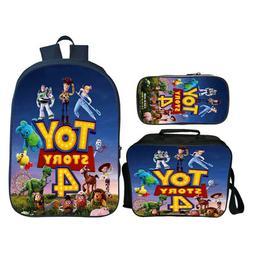 Toy Story 4 Backpack Kids 3PCS School Bag Set Boys Gaming Bo