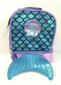 True Metallic Mermaid Dual Compartment Lunch Bag for Girls -