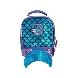 True Metallic Mermaid Dual Compartment Lunch Bag for Girls -