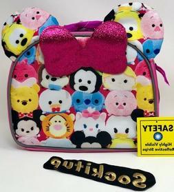Disney Tsum Tsum Girls Soft Lunch Box/ Lunch Bag pink Mickey