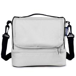 Wildkin Two Compartment Lunch Bag, Insulated and Moisture Re