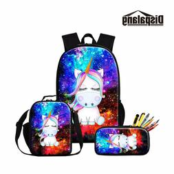 Unicorn Backpack and Lunch Box Bag for Children Girl Cartoon