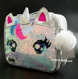 UNICORN FLIP SEQUINS COLOR CHANGE LUNCH BOX GIRLS INSULATED