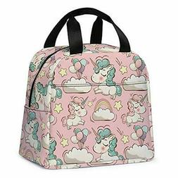 Unicorn Lunch Bag for Girls, Reusable Cute Unicorn Lunch Box