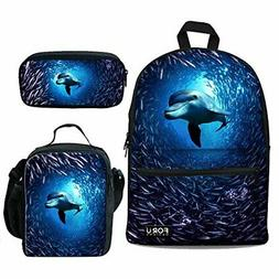 unisex adult dolphin backpack with insulated lunch