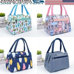 US Portable Insulated Canvas Box Tote Bag Thermal Cooler Foo