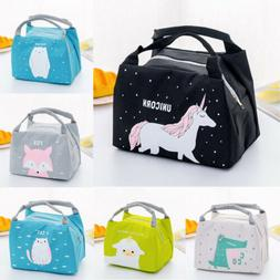 Women Girls Kids Portable Insulated Lunch Bag Box Picnic Tot