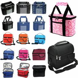 Women Solid Insulated Picnic Bags Large Capacity Food Drink